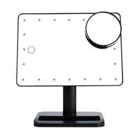 Adjustable Vanity Tabletop Lamp 20 LEDs Lighted LED Touch Screen Makeup Mirror Portable Magnifying Cosmetic Mirror Tool