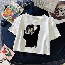 Y2K Streetwear Sexy Slim Tshirt Cropped Tops Horimiya Kun Anime T Shirt Women Harajuku Ulzzang Printed Tshirt Female Crop Top