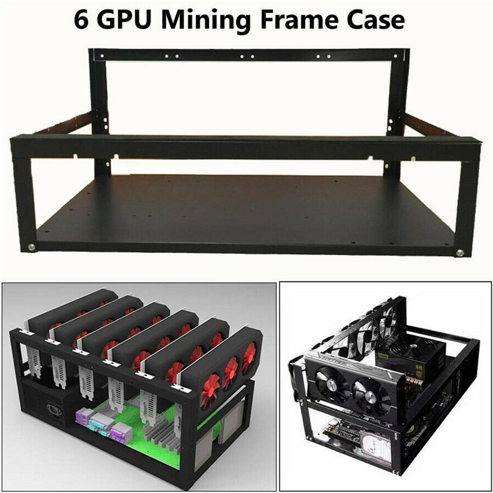 Stackable Open Mining Rig Frame Mining ETH/ETC/ZEC Ether Accessories Tools for 8 GPU Crypto Coin Bitcoin miner Rack  Breathable 1