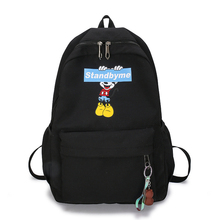 Disney Mickey mouse  Backpack canvas Soft Fabric Female Pure Colour Student Bag School Vintage Women  Girls Travel  bag gift