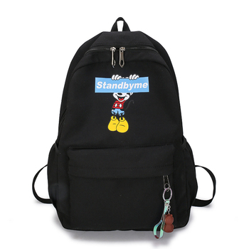 Disney Mickey mouse  Backpack canvas Soft Fabric Female Pure Colour Student Bag School Vintage Women  Girls Travel  bag gift disney mickey mouse backpack canvas soft fabric female pure colour student bag school vintage women girls travel bag gift