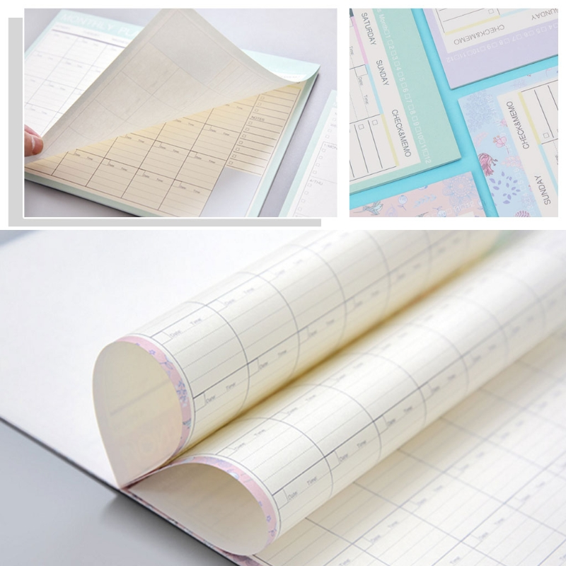 Monthly Paper Pad 20 Sheets DIY Planner Desk Agenda Gift School Office Supplies