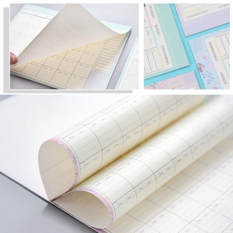 Monthly Paper Pad 20 Sheets DIY Planner Desk Agenda Gift School Office Supplies