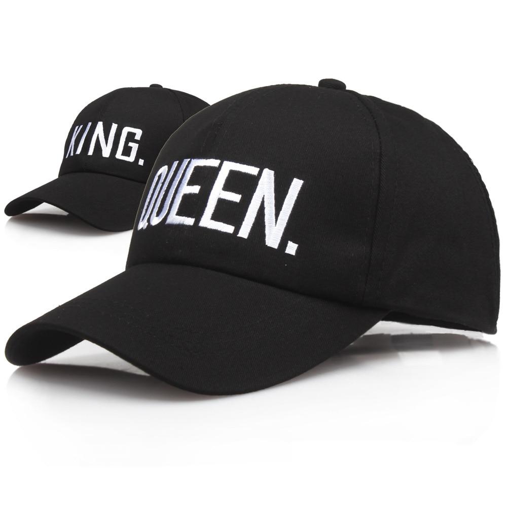 KING QUEEN Baseball Cap Embroidery Letter Hip Hop Hat Casquette Men Women Dad Outdoor Bone Summer Couple Casual Snapback Caps