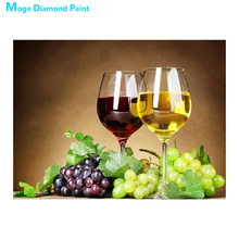 Grapes and wine Diamond Painting Round Full Drill Nouveaute DIY Mosaic Embroidery 5D Cross Stitch home decor gifts