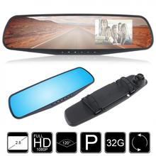 2.7 1080P LCD HD Car Camera Dash Cam Video Recorder Rearview Mirror Vehicle DVR New