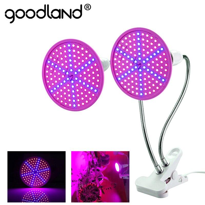 Goodland, luz LED para cultivo E27, Fitolampy, lámpara de Fito de espectro completo con Clip para plantas, plántulas, flores, Fitolamp, caja, tienda de campaña interior