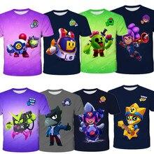 Girls Kid T-shirt Boys 3D PRIMO MORTI Short Sleeve T-shirt Crow Spike Leon Shelly Tshirt Kids Game Star Shirt Tops Birthday Gift