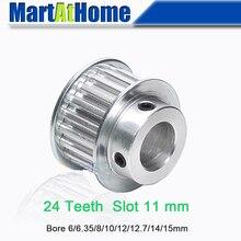 Алюминиевый зубчатый шкив XL24 до 24 месяцев, 24 Зубы Слот Ширина 11 мм от китайского производителя BF-Тип Boss 28/30 мм Диаметр 6~ 15 мм для 3D-принтеры