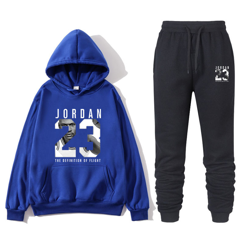 New 2019 Brand Sportswear Fashion JORDAN 23 Men's Sportswear Two-piece Fleece Thickening Hoodie + Pants Sports Suit Male