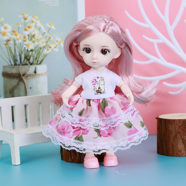 Bjd Doll Clothes For 16cm BJD Doll Dress Up Fashion Dress Skirt Outfit General Dress For Girl Toy Accessories Christmas Gift