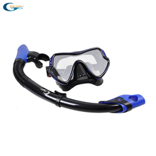 Free Shipping Silicone Diving Mask, Dry Snorkel For Scuba Dive Set Equipment
