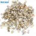 1000 unids/lote 6mm 9MM chapado en oro plateado flor pétalo extremo separador topes para cuentas encantos abalorios tazas para hacer joyas (yiwu)