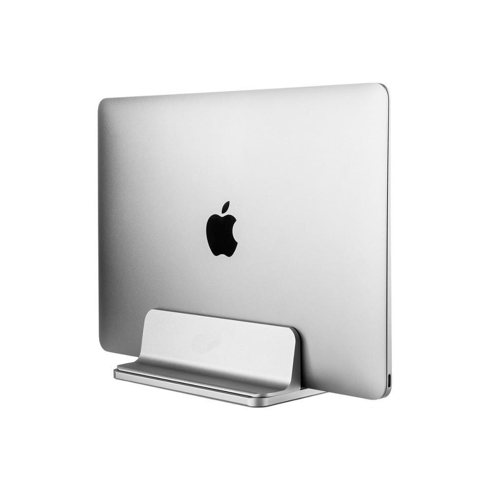 Вертикальная док-станция для ноутбука Macbook Air Pro 13 15, алюминиевая настольная подставка с регулируемой шириной для поверхности, док-станция ...