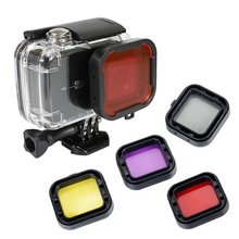Underwater 45m Waterproof Protective Housing Shell Case with Diving Filters for Xiaoyi Yi 4K Yi 4K+ Lite Action Camera цена 2017