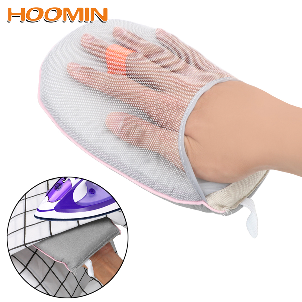 HOOMIN Hand-Held Heat Resistant Glove For Clothes Garment Steamer Iron Table Rack Mini Ironing Pad Sleeve Ironing Board