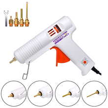 цена на 150W 100W EU Plug Hot Melt Glue Gun Professional High Temperature Adjustable Graft Repair Tool Electric Heat Gun DIY Thermo Tool