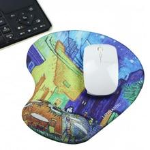 цена на GameMousePatSoftMousePadwithWristRestSupportMatforGamingPCLaptopforMac7.8*9.8'' Cafe Terrace коврик для мыши