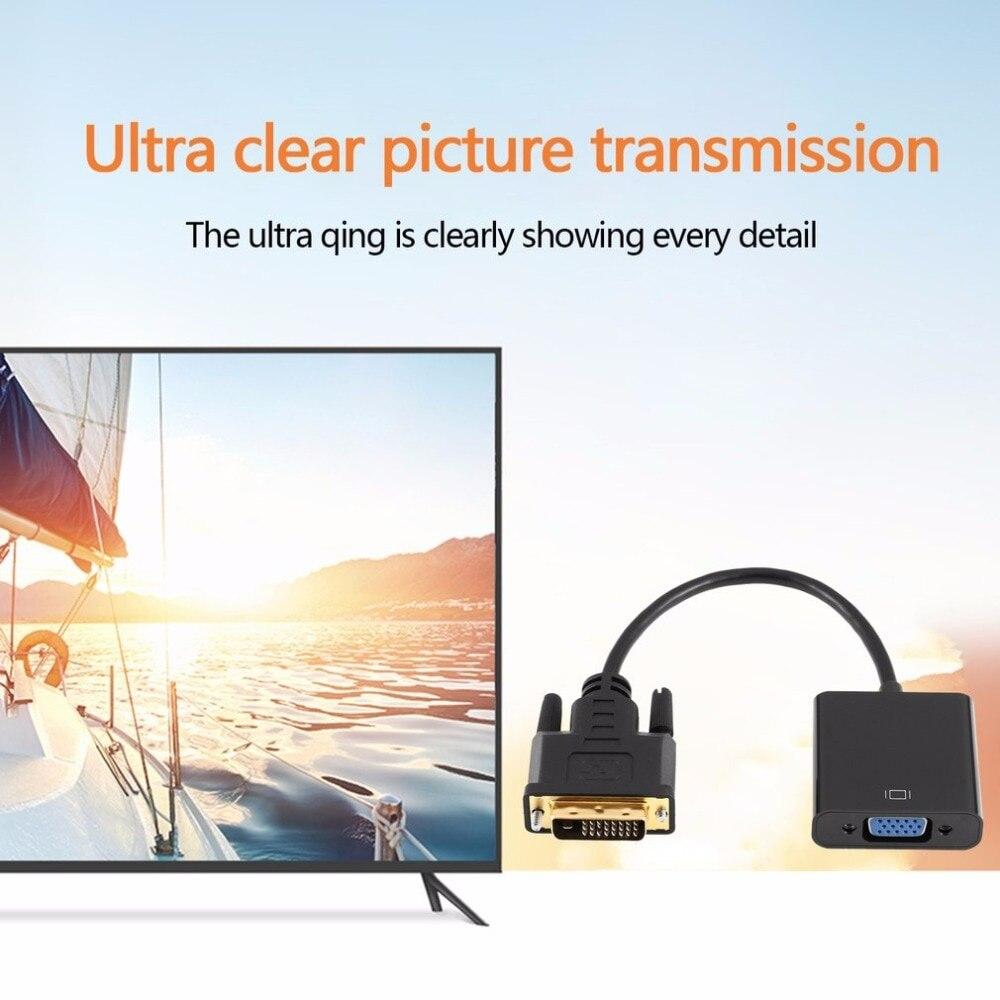 Onleny Full HD 1080P DVI-D-VGA активный адаптер конвертер кабель 24+ 1 Pin папа-15 Pin Женский монитор кабель для ПК дисплей карты