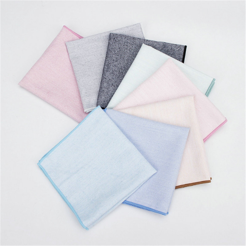 Brand New Men's Hankerchief Scarves Vintage Like Linen Hankies Men's Suits Pocket Square Handkerchiefs Solid Color