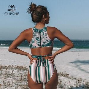 Image 5 - Cupshe Lòng Bàn Tay Và Sọc Đồ Bơi Một Mảnh Sexy Phối Ren Bể Cắt Ra Monokini 2020 Bé Gái Đi Biển bộ Đồ Tắm Đồ Bơi
