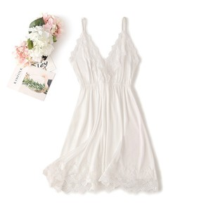 Image 5 - Lace Trim Sexy Wedding Lady Robe Suit Loose Satin Bride Bridesmaid Kimono Bathrobe Gown Mini Sleepwear Rayon Intimate Lingerie