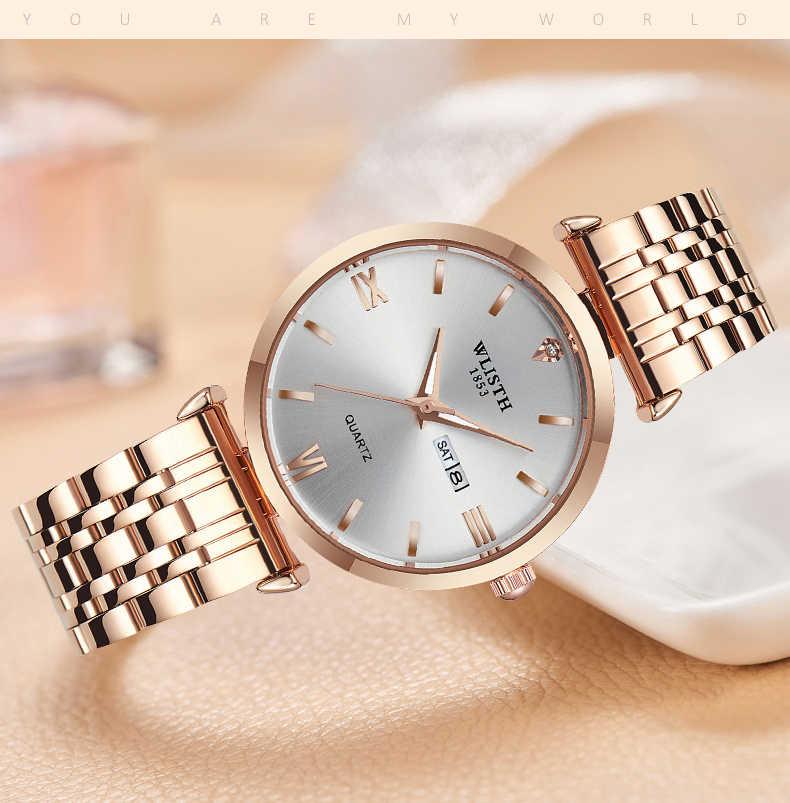 חם Sale2019 נשים שעונים אופנה מקרית אישה שעון למעלה מותג יוקרה גבירותיי שעוני יד נשים זהב כסף פלדה נשי שעון