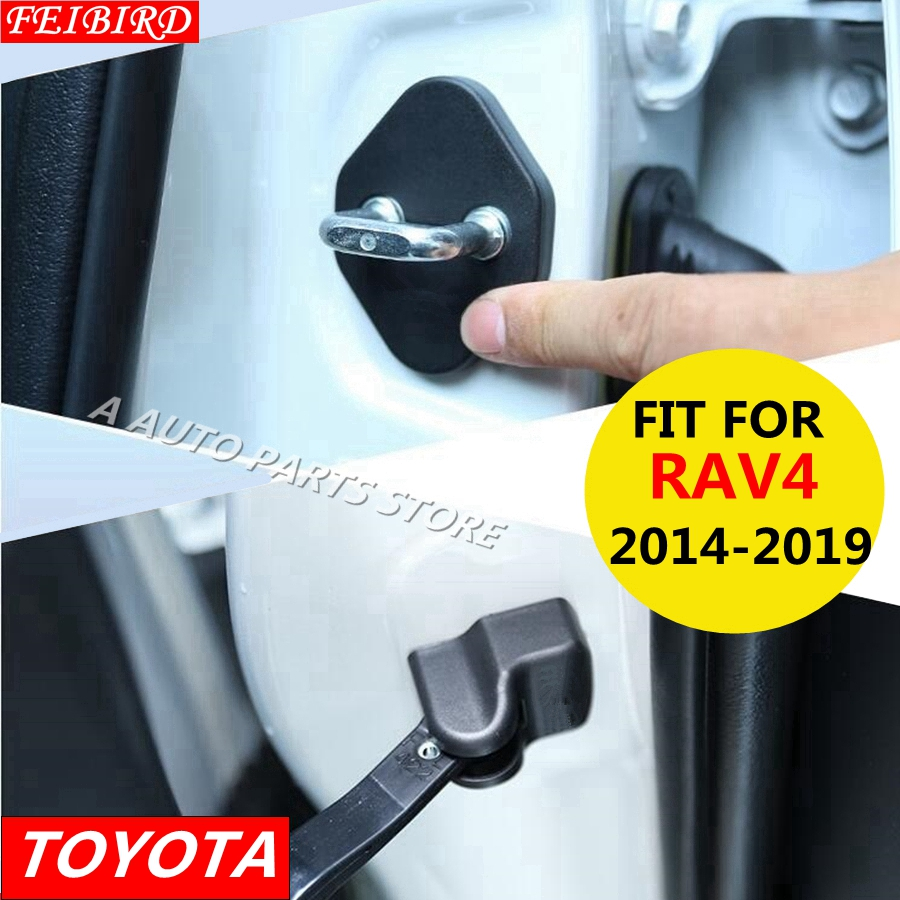 Car Door Lock Decoration Cover Door Check Arm Protection For Toyota RAV4 <font><b>RAV</b></font> <font><b>4</b></font> 2014 2015 2016 2017 <font><b>2018</b></font> 2019 image