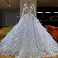 2020 White Gorgeous Celebrity Dress Long Formal Feathers Evening Dress Gorgeous вечернее платье Turkish Couture Dubai Prom Gowns
