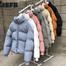 Ievb/odzież męska koreański kolor mulit krótki styl ubrania wyściełane bawełną witner ubrania para koreański moda oversize 9Y3697