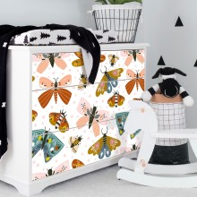 New Waterproof Nordic Simple PVC Stickers Self-adhesive Butterfly Cabinet Furniture Modification Wallpaper Hot Sale
