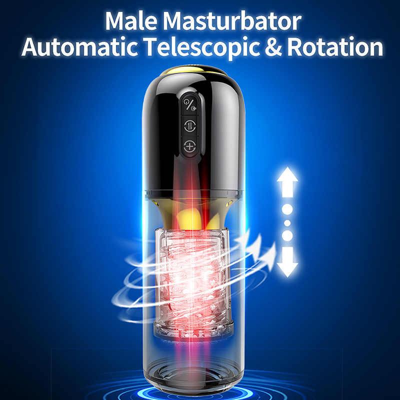 アップグレード 10*10 モード伸縮回転オナホール男性シリコーン masturb 本物の膣オナホール大人のおもちゃ