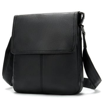WESTAL Men's Genuine Leather Shoulder Bag For Men Casual Crossbody Man Handbag Messenger Bag Male Side Bags Guarantee Men's Bags - 9805A4black, Russian Federation