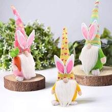 Paskalya figürleri tavşan cüceler bahar hediyeler odası süsler peluş yüzü olmayan bebek ev dekorasyon aksesuarlar mevcut Dropshipping