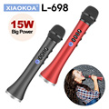 XIAOKOA L-698 15 Вт беспроводной караоке микрофон Bluetooth динамик 4000 мАч 2в1 ручной поет и запись KTV плеер для iOS/Android