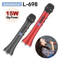 XIAOKOA L 698 15W Wireless Karaoke Microphone Bluetooth Speaker 4000mah 2in1 Handheld Sing&Recording KTV Player for iOS/Android