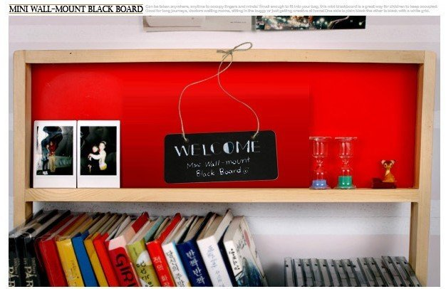 1pcs/lot Cute Wall-mount Black Board With Rope Message Board Wooden Small Blackboard Creative Multifunctional