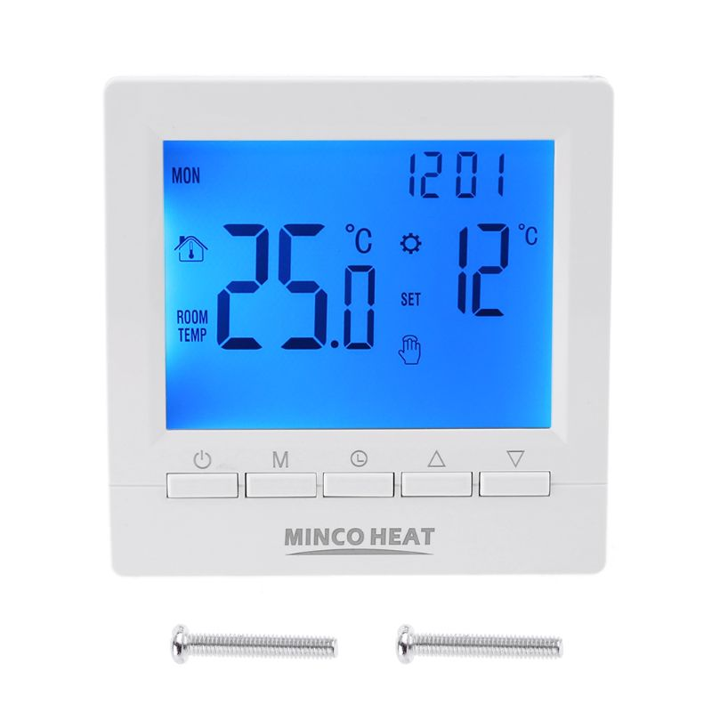 Digital Gas Boiler Thermostat 3A Weekly Programmable Room Temperature Controller 85 X 85 X 28mm