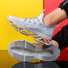 New mens Blade breathable flying woven shoes breathable mesh men casual shoes large size running shoes Feminino Zapatos non-slip