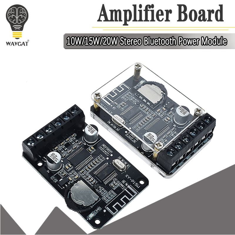 10W/15W/20W/30W/40W Stereo Bluetooth Power Amplifier Board 12V/24V High Power Digital Amplifier Module XY-P15W