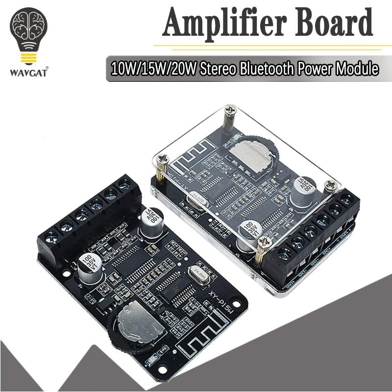 10W/15W/20W/30W/40W Stereo Bluetooth Power Amplifier Board 12V/24V High Power Digital Amplifier Module XY-P15W