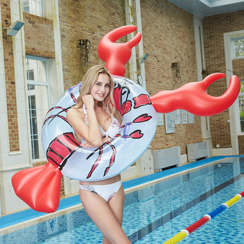 цена на Beach Swimming Pool Inflatable Crayfish Swimming Ring Floating Row Water Mount Floating Bed Chair Lounge Hammock Water Sport