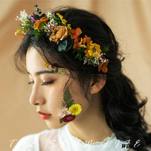 handmade bridal headband flower wreath christmas festive party supplies princess girls womens headbands wedding props