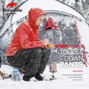 Image 5 - Naturehike ユニセックスダウンパンツ屋外クライミング防水暖かいパンツアウトドアキャンプグースダウンダウンズボン