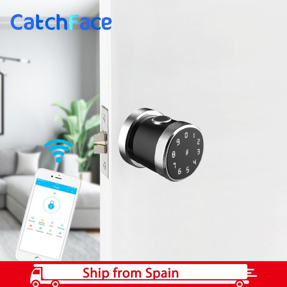 TTlock APP Keyless Security Electronic Fingerprint Door Lock  Wifi Lock Smart  Bluetooth Door Lock  For Home Apartment