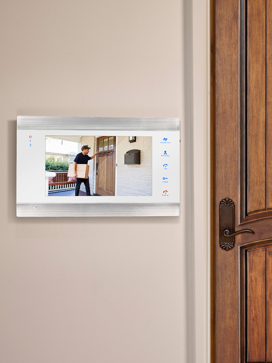 Homefong Door-Phone Intercom-System Record Cctv-Camera Video Hd-Monitor Support Wired