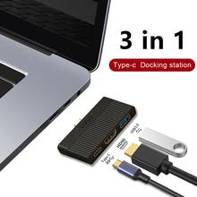 3 in 1 Type-C Hub Type-C to 4K HDMI PD Charger USB 3.0 Adapter Hub Converter For MacBook USB 3.0 Hub adaptador usb usb 3 hub new usb 3 0 2 ports usb 3 1 type c front panel usb hub with 20 pin connector adapter cable em88