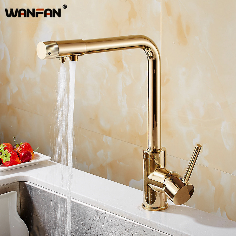 Kitchen Faucets Deck Mount Purify Mixer Tap 360 Degree Rotation With Water Purification Single Hole For Kitchen Faucet N22-149