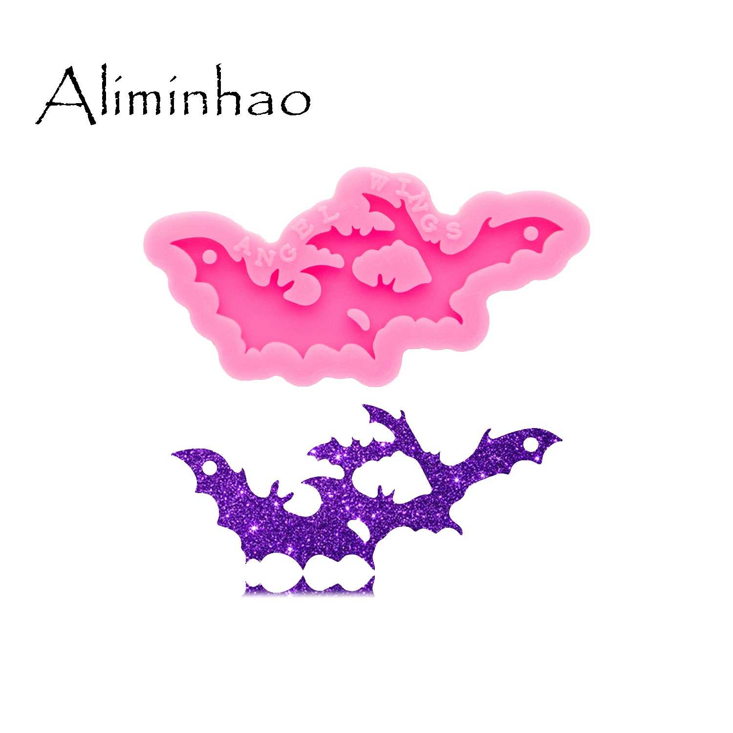 Shiny Glossy Halloween Making Keychain Polymer Clay Mold Necklace Epoxy Jewellery Silicone Mold Resin Crafting molds for Keychains Mold