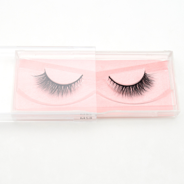 3D Mink Visofree 1 pair Eyelashes New Arrival 100% Cruelty free Dramatic Lashes Cross Handmade False Eyelashes Makeup Beauty M58 2